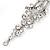 Long Swarovski Clear Crystal Chandelier Earrings ( Silver Plated Metal) - 11.5cm Drop - view 8