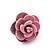 Tiny Light Pink 'Rose' Stud Earrings In Silver Tone Metal - 10mm Diameter - view 5