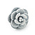 Tiny White 'Rose' Stud Earrings In Silver Tone Metal - 10mm Diameter - view 8