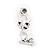 Small Clear Crystal Cute 'Owl' Stud Drop Earrings In Rhodium Plated Metal - 3cm Length - view 4