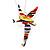 Cute Multicoloured Enamel 'Fairy' Drop Earrings In Rhodium Plated Metal - 6cm Length - view 5