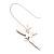 Cute Multicoloured Enamel 'Fairy' Drop Earrings In Rhodium Plated Metal - 6cm Length - view 4