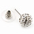 Clear Crystal Ball Stud Earrings In Silver Plated Finish - 9mm Diameter - view 7