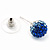 Royal Blue/Sky Blue/Clear Swarovski Crystal Ball Stud Earrings In Silver Plated Finish -10mm Diameter - view 7