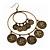 Large Coin Hoop Earrings In Bronze Finish - 9.5cm Length