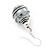 Silver Tone Grey Faux Pearl Drop Earrings - 4cm Drop - view 3