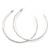 Large Slim Clear Diamante Hoop Earrings In Silver Plating - 6.5cm Diameter - view 7