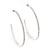 Large Slim Clear Diamante Hoop Earrings In Silver Plating - 6.5cm Diameter - view 8