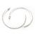 Slim Clear Diamante Hoop Earrings In Silver Plating - 5cm Diameter - view 6