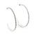 Slim Clear Diamante Hoop Earrings In Silver Plating - 5cm Diameter - view 8