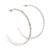 Slim Clear Diamante Hoop Earrings In Silver Plating - 5cm Diameter - view 7