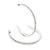 Slim Clear Diamante Hoop Earrings In Silver Plating - 5cm Diameter - view 5