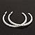 Slim Clear Diamante Hoop Earrings In Silver Plating - 5cm Diameter - view 4