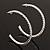 Slim Clear Diamante Hoop Earrings In Silver Plating - 5cm Diameter - view 9