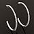 Slim Clear Diamante Hoop Earrings In Silver Plating - 5cm Diameter - view 3