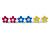 Set of 3 Children's Enamel Daisy Stud Earrings in Blue/ Fuchsia/ Yellow - 12mm D - view 3