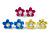 Set of 3 Children's Enamel Daisy Stud Earrings in Blue/ Fuchsia/ Yellow - 12mm D