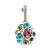 Multicoloured Crystal Ball Drop Earrings In Silver Plating - 3cm Length - view 3