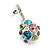 Multicoloured Crystal Ball Drop Earrings In Silver Plating - 3cm Length - view 4