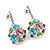 Multicoloured Crystal Ball Drop Earrings In Silver Plating - 3cm Length - view 2