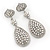 Swarovski Crystal Teardrop Earrings In Silver Plating - 7cm Length - view 10