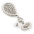 Swarovski Crystal Teardrop Earrings In Silver Plating - 7cm Length - view 5