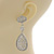 Swarovski Crystal Teardrop Earrings In Silver Plating - 7cm Length - view 4