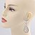 Swarovski Crystal Teardrop Earrings In Silver Plating - 7cm Length - view 3