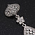 Swarovski Crystal Teardrop Earrings In Silver Plating - 7cm Length - view 6