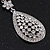 Swarovski Crystal Teardrop Earrings In Silver Plating - 7cm Length - view 7
