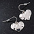 Small Hammered 'Heart' Drop Earrings In Silver Plating - 2cm Length - view 6