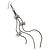 Long Tassel With Crystal Bow Earrings In Gun Metal - 15cm Length - view 4