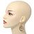 Gold Plated Crystal Filigree Teardrop Earrings - 6.5cm Length - view 4