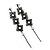 Long Black Floral Filigree Drop Earrings - 12.5cm Length - view 6