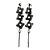 Long Black Floral Filigree Drop Earrings - 12.5cm Length - view 7