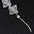 Long Silver Tone Floral Filigree Drop Earrings - 12.5cm Length - view 6