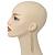 Long Gold Plated Clear Diamante 'Tassel' Drop Earrings - 11cm Length - view 9