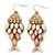 Vintage Gold Plated Acrylic Bead 'Fish' Drop Earrings - 6cm Length - view 7