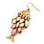 Vintage Gold Plated Acrylic Bead 'Fish' Drop Earrings - 6cm Length - view 3