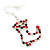 Red/Green/Clear Diamante 'Christmas Stocking' Drop Earrings In Silver Plating - 5cm Length - view 4