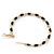 Twisted Gold Black Enamel Hoop Earrings - 6cm Diameter - view 3