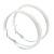 Large White Enamel Hoop Earrings - 5cm Diameter