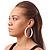 Large White Enamel Hoop Earrings - 50mm Diameter - view 5