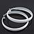 Large White Enamel Hoop Earrings - 50mm Diameter - view 6