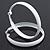 Large White Enamel Hoop Earrings - 50mm Diameter - view 3