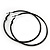 Slim Black Enamel Hoop Earrings - 6cm Diameter - view 2