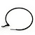 Slim Black Enamel Hoop Earrings - 6cm Diameter - view 4