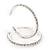 Classic Austrian Crystal Hoop Earrings In Rhodium Plating - 5.5cm D - view 8