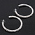 Classic Austrian Crystal Hoop Earrings In Rhodium Plating - 5.5cm D - view 6