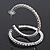 Classic Austrian Crystal Hoop Earrings In Rhodium Plating - 5.5cm D - view 4